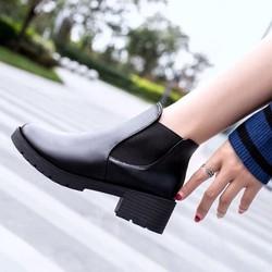 Boot Da Nữ Cổ Chun Trơn Đế 5 Phân Siêu Đẹp