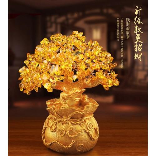 [Siêu sale ]🌼🌼🌼 cây tài lộc đá thạch anh vàng thiềm thừ 🌼🌼🌼
