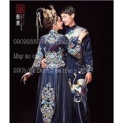 áo dài cưới trung hoa hỷ phục áo khoả bao đep cao cấp