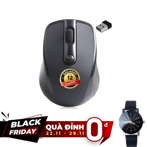 [Quà đỉnh 0đ] chuột không dây auto led - tầm xa 10m - tặng kèm đồng hồ