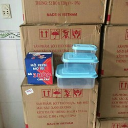 Bộ 3 hộp nhựa hàng khuyến mãi