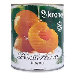 Trái Cây Kronos Yellow Cling Peach Halves In Syrup Lon 820G