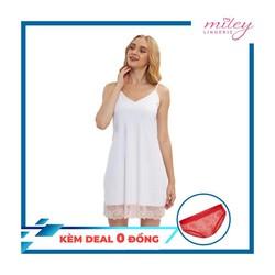Đầm Ngủ Nữ Thun Lạnh Hai Dây Phối Ren Sexy & Comport Miley Lingerie