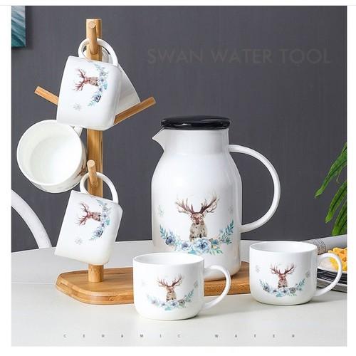 Bộ bình trà giữ nhiệt 6 cốc