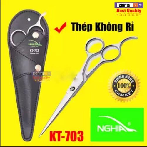 Kéo cắt tóc hàng chính hiệu kềm nghĩa - sản phẩm kéo cắt và tỉa tóc làm từ thép không rỉ kt-703
