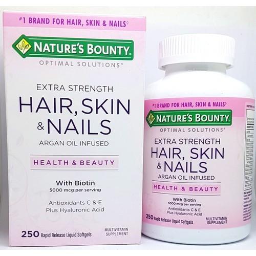 Viên uống đẹp da, tóc, móng 250 viên – hair skin nail nature
