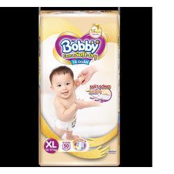 Bỉm quần Bobby Extra siêu mềm S70-M64-L56-XL50-XXL46  cắt tem (1 gói tặng đàn, 2 gói tặng túi xách)