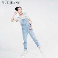 Quần Yếm Overall Jeans nữ cao cấp thương hiệu Five Jeans