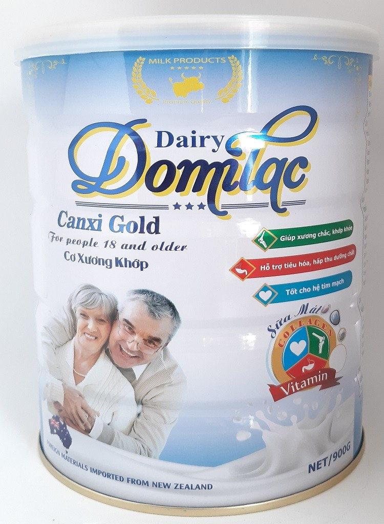 Sữa xương khớp cho người già, bổ sung collagen Domilac Canxi 900g