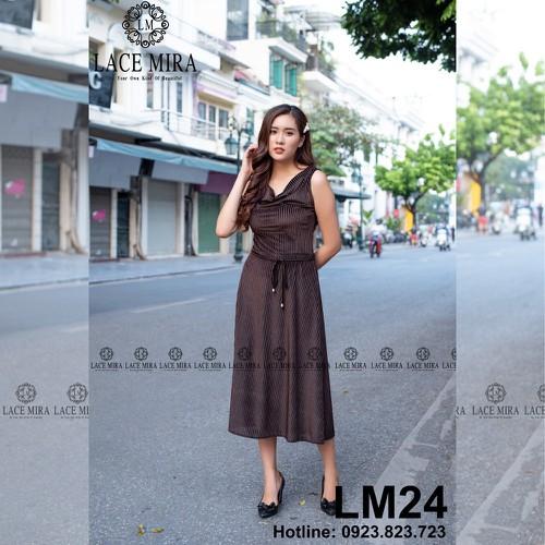 Váy đầm nhung sát nách cổ đổ dập nhăn nâu dây nơ cao cấp lm24 - thời trang thiết kế lace mira - 20448967 , 23257101 , 15_23257101 , 799000 , Vay-dam-nhung-sat-nach-co-do-dap-nhan-nau-day-no-cao-cap-lm24-thoi-trang-thiet-ke-lace-mira-15_23257101 , sendo.vn , Váy đầm nhung sát nách cổ đổ dập nhăn nâu dây nơ cao cấp lm24 - thời trang thiết kế lace