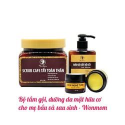 Bộ tắm gội Wonmom và Kem dưỡng da mặt hữu cơ cho mẹ bầu và sau sinh