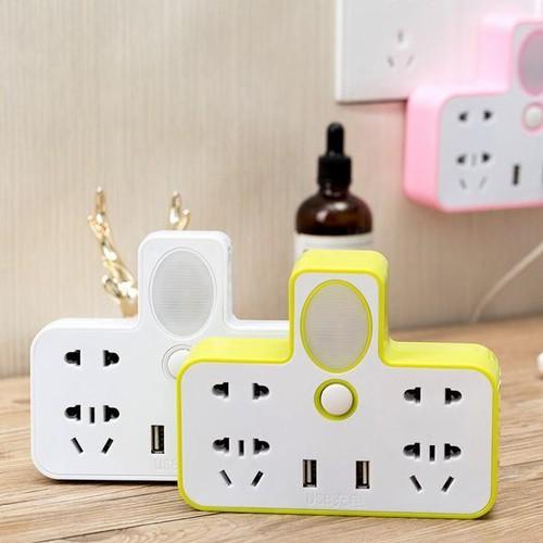 Chia ổ điện kiêm đèn ngủ có 2 usb sạc đt - 19243175 , 23273108 , 15_23273108 , 101000 , Chia-o-dien-kiem-den-ngu-co-2-usb-sac-dt-15_23273108 , sendo.vn , Chia ổ điện kiêm đèn ngủ có 2 usb sạc đt