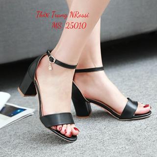 Giày cao gót vuông 5 phân size lớn 40 41 42 43 - 25010 NRossi thumbnail