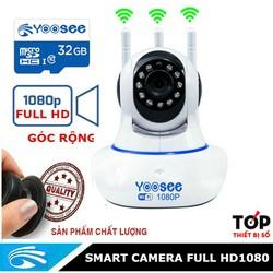 Camera Yoosee 3 anten Full HD 1080p & Thẻ nhớ Yoosee 32GB