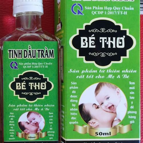 Tinh dầu tràm bé thơ chai 50 và 100ml có tem chống hàng giả của công ty tnhh mtv sản xuất tinh dầu bé thơ