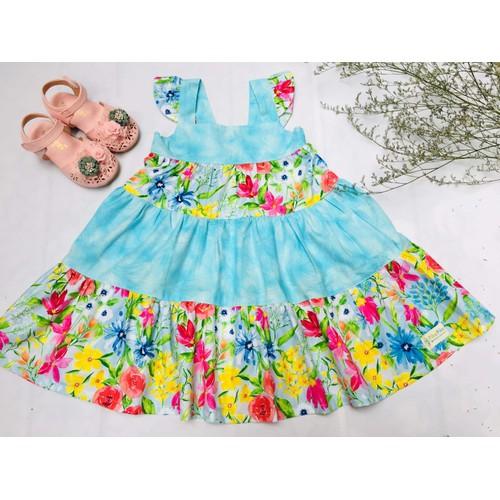 Váy hoa 2 tầng bé gái