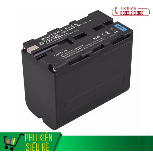 Pin cho máy quay phim sony np-f970 np-f960 7800mah cao cấp