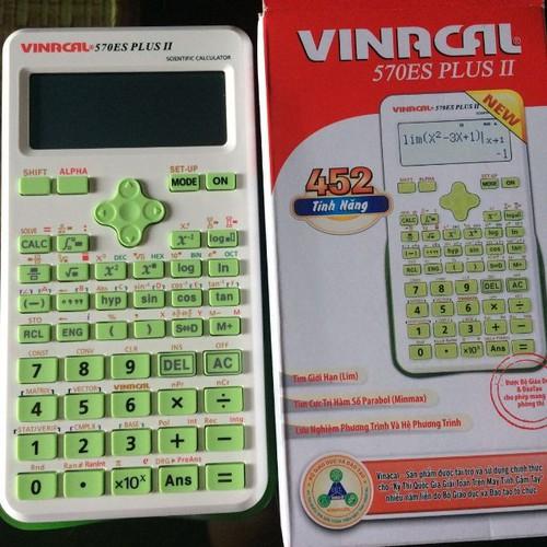 Máy tính vinacal 570es plus ii - máy tính bỏ túi học sinh  màu xanh lá - 20452259 , 23263130 , 15_23263130 , 350000 , May-tinh-vinacal-570es-plus-ii-may-tinh-bo-tui-hoc-sinh-mau-xanh-la-15_23263130 , sendo.vn , Máy tính vinacal 570es plus ii - máy tính bỏ túi học sinh  màu xanh lá