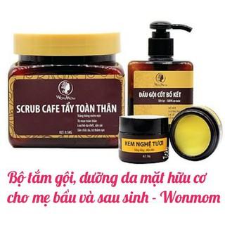 Bộ tắm gội Wonmom và Kem dưỡng da mặt hữu cơ cho mẹ bầu và sau sinh - BTG thumbnail