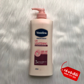 [Hỗ trợ phí ship] Sữa Dưỡng Thể Trắng Hồng Vaseline Healthy White UV Lightening 400ml - Thái Lan - Vaseline 3X 400ml