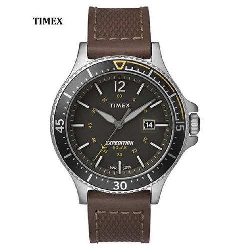 Đồng hồ nam timex màu nâu expedition ranger solar 43mm - tw4b15100