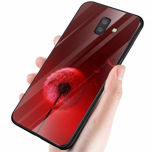 Ốp điện thoại kính cường lực cho máy samsung galaxy a6 2018 - bồ công anh đỏ 2011 ms abah001