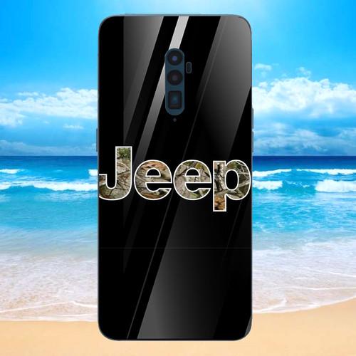 Ốp điện thoại kính cường lực cho máy oppo reno - jeep 2011 ms abah003