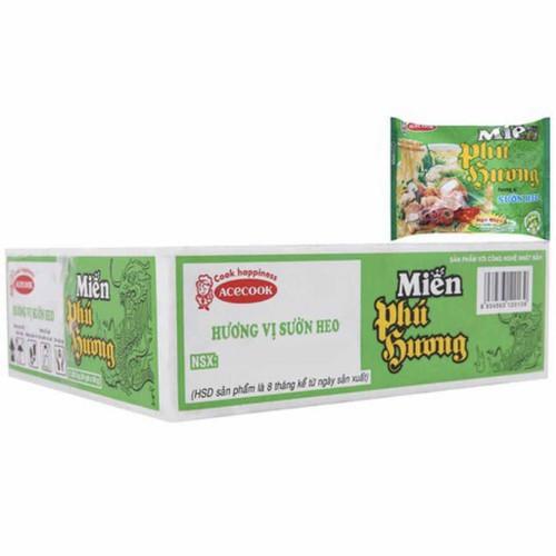 Thùng 24 gói miến gói phú hương hương vị sườn heo acecook