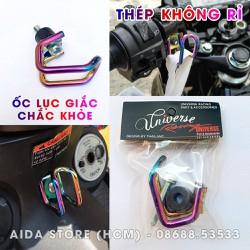 Móc treo đồ xe máy - thép không rỉ 7 màu titan DESIGN BY THAILAND