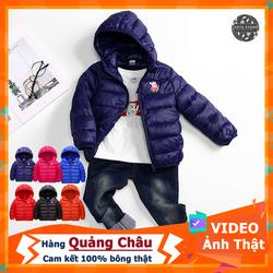 [Xem Hàng - Ảnh Thật - Freeship] Áo khoác phao cho bé trai, gái từ 8-18kg bông thật. Áo khoác phao trẻ em hàng Quảng Châu cao cấp.