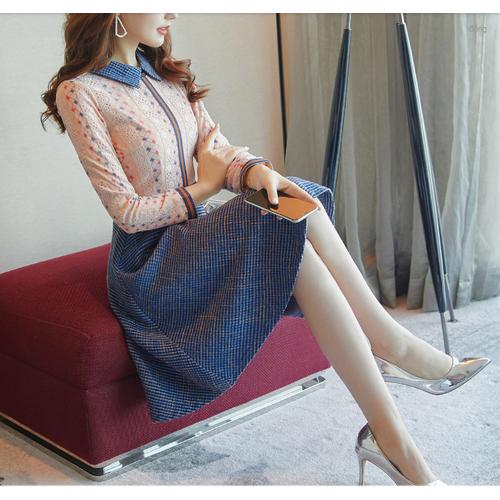 Đầm sơ mi lót nỉ thu đông thời trang cao cấp