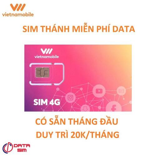 Sim 4g vietnamobile thánh data 4g không giới hạn chỉ 20k mỗi tháng