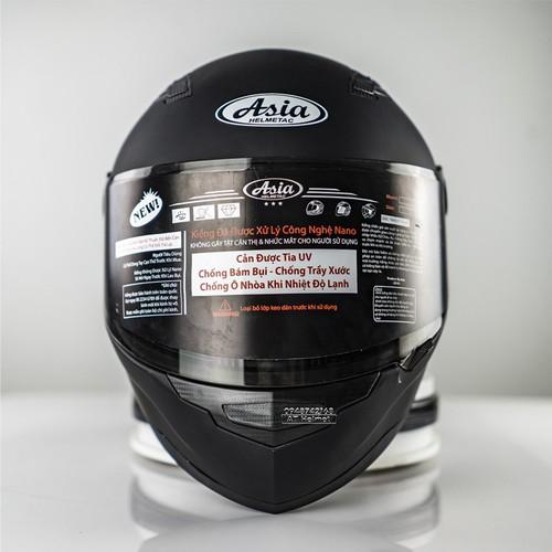 Mũ bảo hiểm fullface asia đen nhám