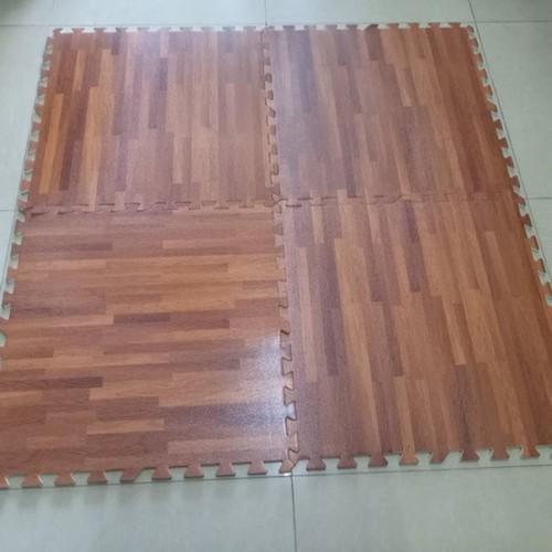 Thảm xốp vân gỗ cao cấp 12 miếng kt 60x60cm ghép được 4,32m vuông