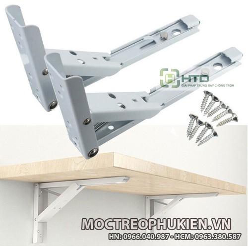Kệ gập treo tường, ke đỡ bàn thông minh sét 1 bộ 2 chiếc không có mặt gỗ