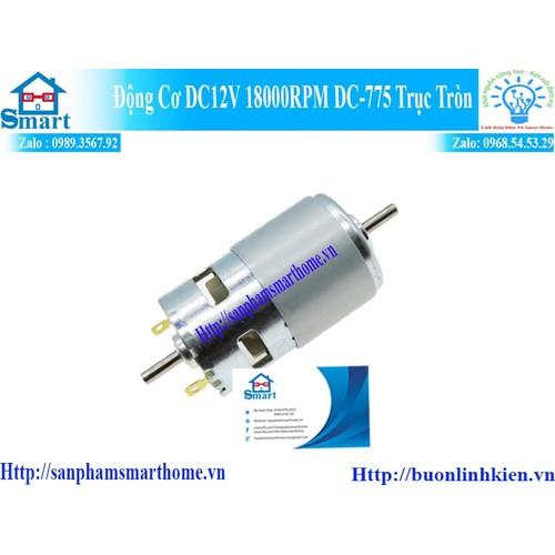 Động cơ dc12v 18000rpm dc-775 trục tròn