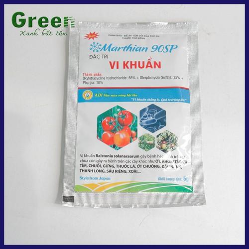 Thuốc trừ vi khuẩn và thối nhũn marthian 90sp - gói 5 gram