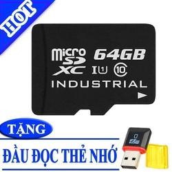 Thẻ nhớ 64 GB - Micro SDHC 64 GB- TẶNG ĐẦU ĐỌC THẺ