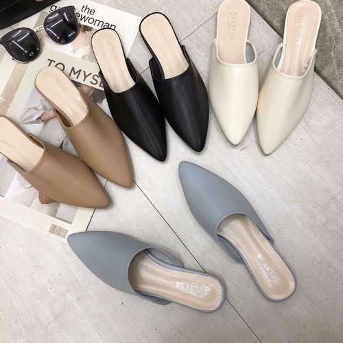 Dép sục nữ - dép mules nữ da cao cấp sunnie shoes