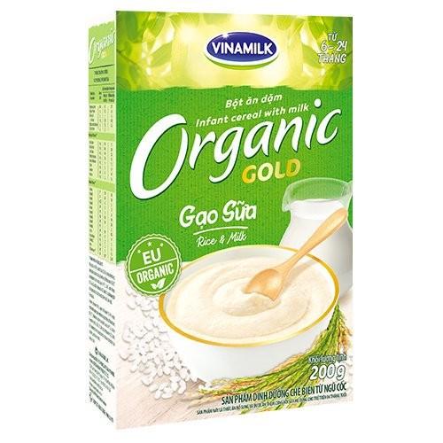 Bột ăn dặm organic 200g dành cho bé từ 6 tháng