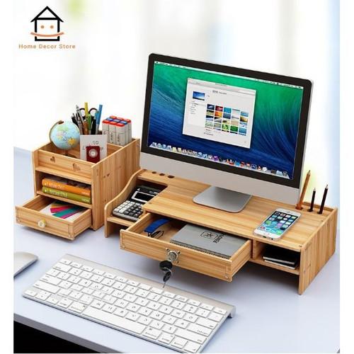 Kệ gỗ để bàn làm việc