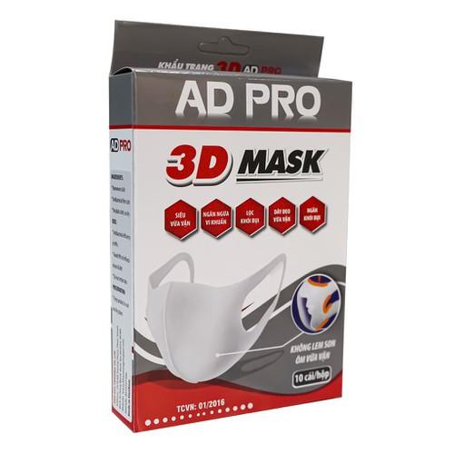 Hộp khẩu trang 3d mask ad pro 10 cái hàng chính hãng