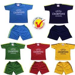Combo 5 bộ đồ đá banh dành cho bé trai và bé gái, trang phục bóng đá dành cho trẻ em, áo đấu đội tuyển, áo đấu câu lạc bộ dành cho bé từ 10-40kg- 5màu khác nhau