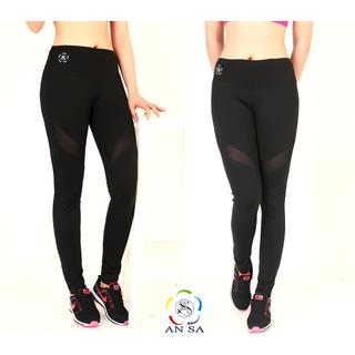 Quần legging thể thao nữ dài phối lưới cao cấp-QD2 - QD2 thumbnail