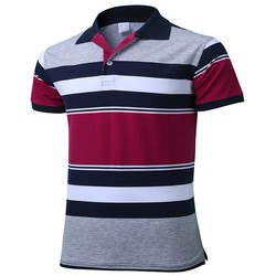 [CHO XEM HÀNG] ❎❎Áo thun sọc nam thêu Logo, vải cotton mịn mát, form chuẩn đẹp