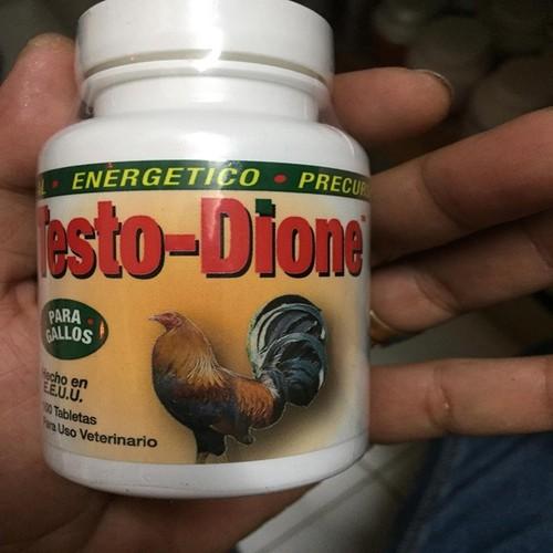 Thuốc nuôi gà tơ testo dione  trị gà cự yếu hộp 100 viên