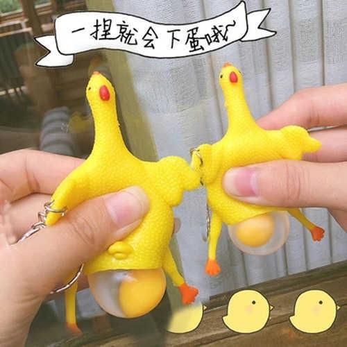 Đồ chơi bóp squishy hình chú gà dễ thương