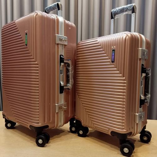 Combo bộ vali khung nhôm khóa sập - fashion