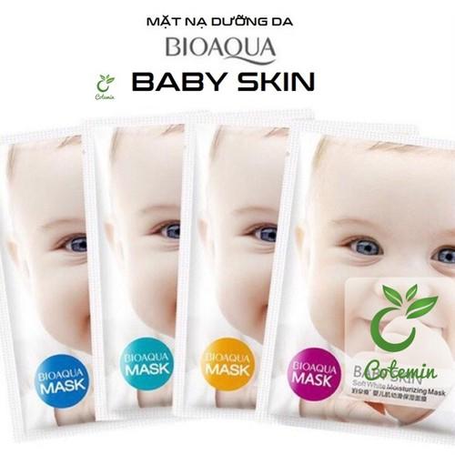 Combo 10 mặt nạ giấy dưỡng da trị mụn cao cấp dưỡng ẩm thải độc bioaqua baby skin