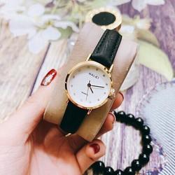Đồng hồ nam, nữ dây da Halei Classic gold thời thượng